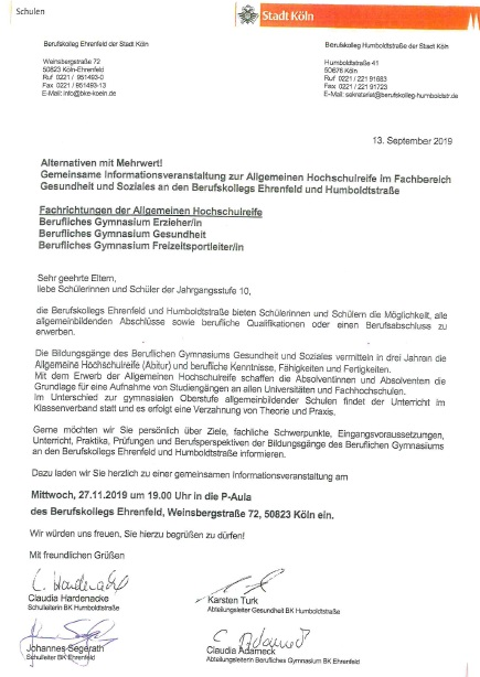 Berufskolleg Ehrenfeld Aktuell 2